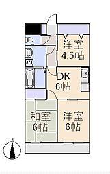 クレインマンション[5階]の間取り