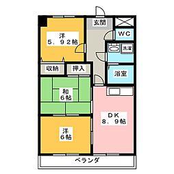 N'S餐霞園[5階]の間取り