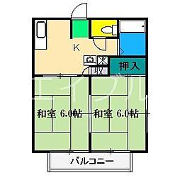 サンライフ新田町[2階]の間取り