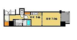 プレサンス堺筋本町駅前[7階]の間取り