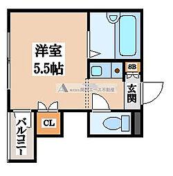 くろ〜ば菱江[2階]の間取り