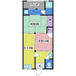 第2栄荘[2階]の間取り
