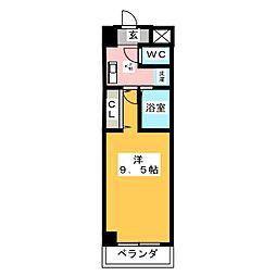 PROUDIA岡崎[8階]の間取り