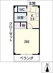 第5ハイツタマキ[1階]の間取り