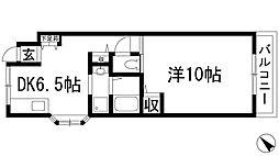 昆陽池マンション[3階]の間取り