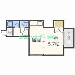 北海道札幌市東区北二十八条東13丁目の賃貸マンションの間取り