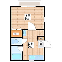 フローラハイツII[2階号室]の間取り