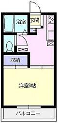 雅コーポB棟[11号室号室]の間取り