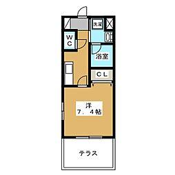ベラジオ京都壬生 ウエストゲート[1階]の間取り