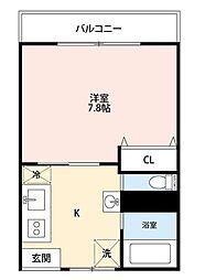 第11正田ビル[406号室]の間取り
