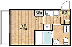 CASAR武蔵新城[201号室]の間取り