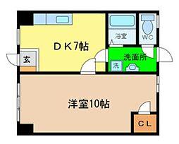 パレFUKUOKA3[103号室]の間取り