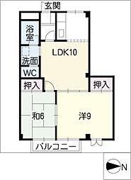 ソレーユ21 A[2階]の間取り