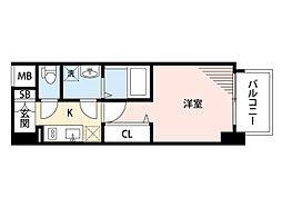 JR東海道・山陽本線 岸辺駅 徒歩4分の賃貸マンション 3階1Kの間取り