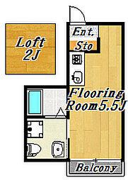 フローラ7[2階]の間取り