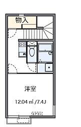 東京都足立区花畑7丁目の賃貸アパートの間取り