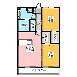 Recente和田 A[2階]の間取り