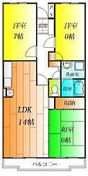 パークレジデンス[4階]の間取り