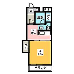 マンション植田[2階]の間取り