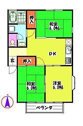 細村コーポB[1階]の間取り