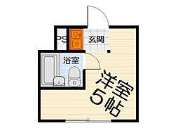 大阪府高石市加茂4丁目の賃貸マンションの間取り