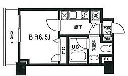 東京都大田区下丸子1丁目の賃貸マンションの間取り