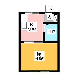 ハマノヤマンション[3階]の間取り