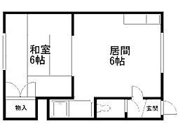 細田マンション[7号室]の間取り