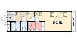レオパレス甲子園高潮I[304号室]の間取り