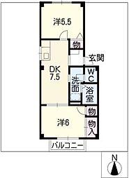アーバンプラザ[2階]の間取り