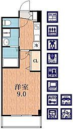 プラウドコート[1階]の間取り