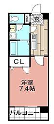 ナラザ舞鶴[603号室]の間取り