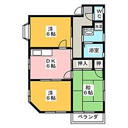 コーポナガシマ[2階]の間取り