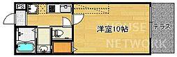 京都府京都市上京区藪之下町の賃貸マンションの間取り