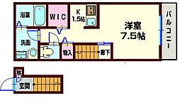 ガーデンハウス[202号室]の間取り