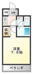 ブールバール甲子園[3階]の間取り