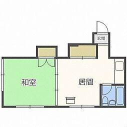 コーポ古木[3階]の間取り