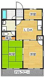吉塚マンション[505号室]の間取り