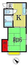 千葉県船橋市三山2丁目の賃貸アパートの間取り
