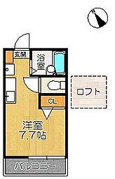 風雅2号館[2階]の間取り
