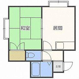 北海道札幌市東区北十九条東22丁目の賃貸アパートの間取り
