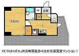 リーガル神戸元町[11階]の間取り