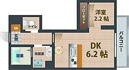 東京都中野区中野5丁目の賃貸マンションの間取り