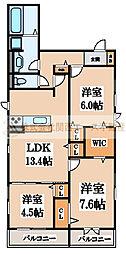 D-room北三国ヶ丘8丁[2階]の間取り