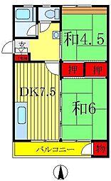 森田マンション1号棟[1-401号室]の間取り