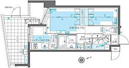 東京メトロ日比谷線 広尾駅 徒歩10分の賃貸マンション 1階1Kの間取り