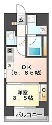 M:COURT江坂[8階]の間取り