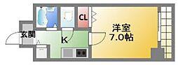 ユーカ心斎橋東[7階]の間取り