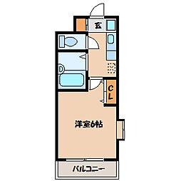 ル・シャトラン1[2階]の間取り
