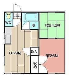 安武アパート[1階]の間取り